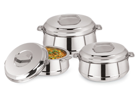 Classic Belly Stainless Steel Insulated Casserole