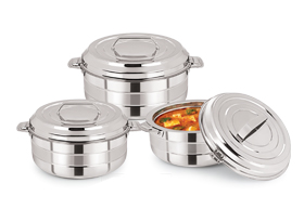Milo Stainless Steel Insulated Casserole